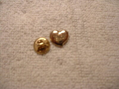 Gold Heart - Metal Action Heart Charity Pin Badge