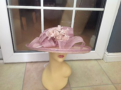 Ladies Cream Wide Brim Hat For Weddings/races/special Occasions/new With Tags