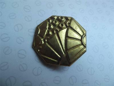 Vintage French gilt metal toleware picture hook cover Art deco style 4cm