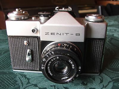 Zenit B 35mm SLR with Industar 50mm f3.5 lens and case