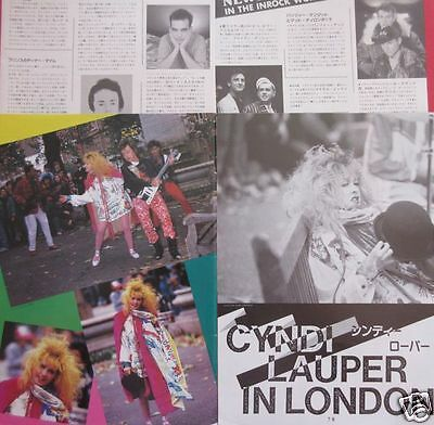 CYNDI LAUPER PET SHOP BOYS CURE Robert Smith 1987 CLIPPINGS JAPAN IR 1A 6PAGE