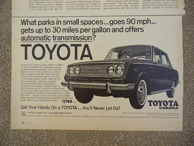 Vintage 1967 Toyota Corona Ad-Not A Reproduction