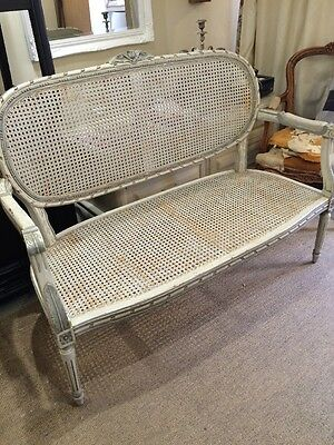 French Antique Style Rattan Sofa