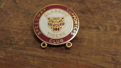 Glasgow Tigers--Supporters Club 1970's--Speedway Badge-Gold Metal