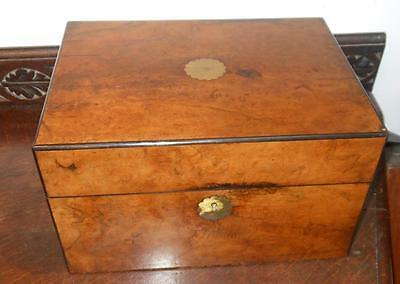 victorian walnut ladies vanity box