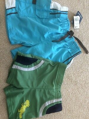 Boys Swimming Trunks 6-12 Months 2 Pairs