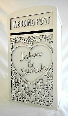 Large White Wedding Card Post Box (Personalised) - 'Ditsy Flower' Design