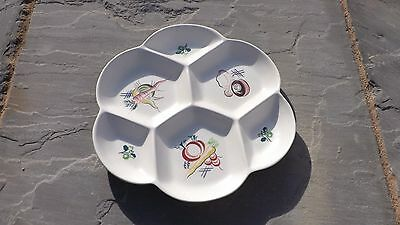 Excellent Poole Pottery Hors d'oeuvres Dish Traditional Pattern Vegetables