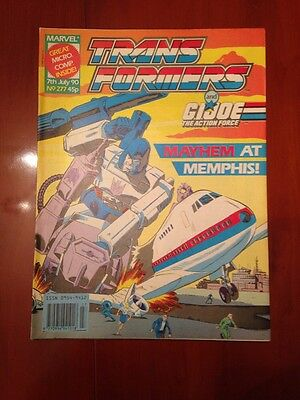 Marvel UK Transformers G1 Issue Number 277 July 1990