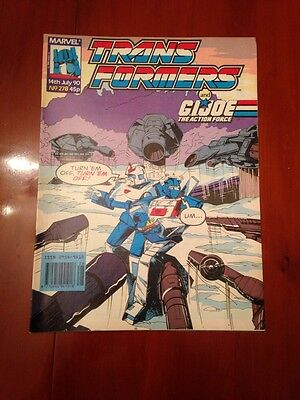 Marvel UK Transformers G1 Issue Number 278 July 1990