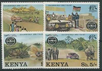 Kenia 1977 Safari-Ralley Ford Escort Toyote Elefant 74/77 postfrisch