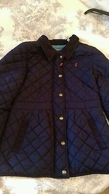 Girls Joules jacket age 9-10 years navy blue