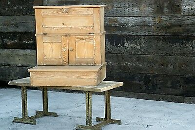 Antique Pine Kitchen Larder - Housekeepers Cupboard - Quirky and Charming Item