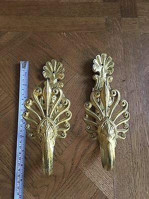 Antique French Pair Of Brass Curtain Tie Backs