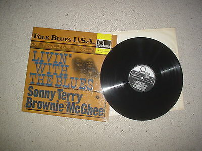 Livin' with the Blues Sonny Terry Brownie McGhee fontana   vinyl lp 1960