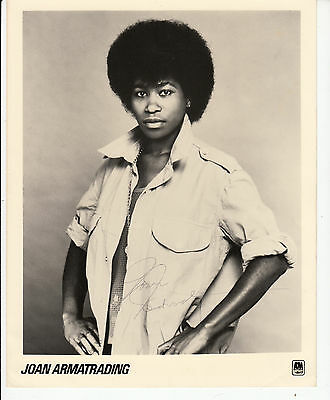 Joan Armatrading autographed photo original hand signed A&M press photo