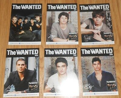 The WANTED - set of 6 postcards with printed autograpgh