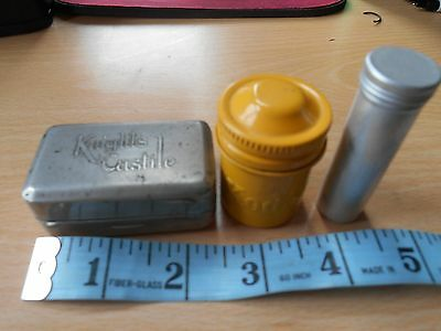 3 Miniature Collectable Tins - Knights Castile, Kodak & 1 Other