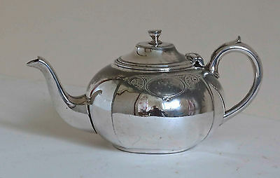 Etched, Victorian Silver Plated Teapot. James Deakin & Son