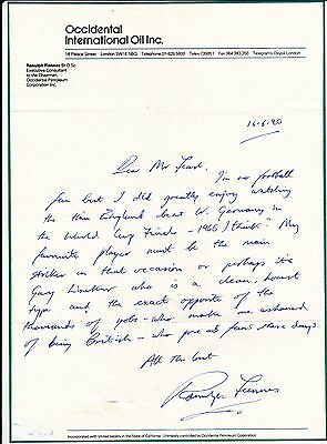 Ranulph Fiennes Signed Letter On His Favourite Footballers - English Explorer