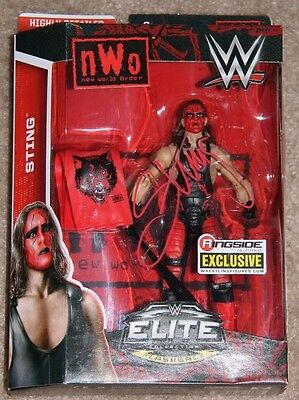 WWE Ringside Exclusive nWo Wolfpac STING signed/autographed Action Figure WCW