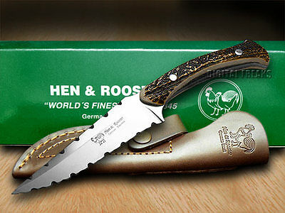 HEN & ROOSTER Genuine Stag Bowie Full Tang Knife