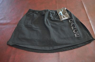 New Motion Wear   Black Skirt with Bling  Size XL Adult  Dancewear