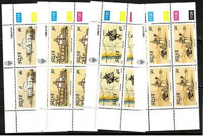 South West Africa  1988 Centenary of Postal Service in SWA  Blocks of 4 MNH