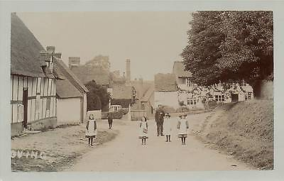 "Old Real Photo Postcard ""oving"" (Buckinghamshire)"