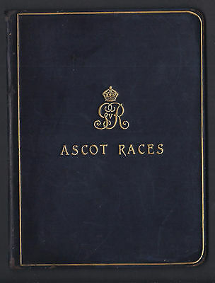 King George V Royal Embossed Leather Programme for Ascot Races 1920