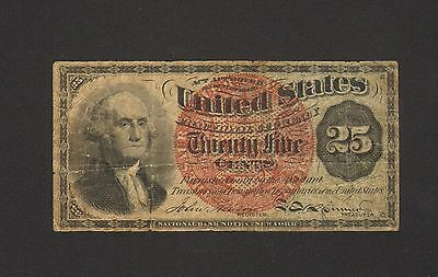 Fr. 1301 25 Cents 4th Issue U.S. Fractional Currency - VG