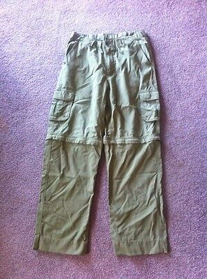 Boy Scouts Olive Green Switchback Cargo Convertible Shorts Pants Classic Small