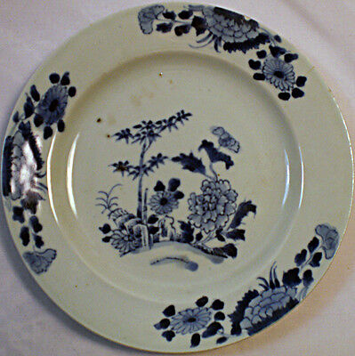 A blue painted Chinese porcelain plate c.1750