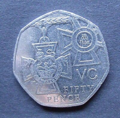 2006 50P Coin Rare Vc Victoria Cross 60 Years Since End Of Ww2 Fifty Pence
