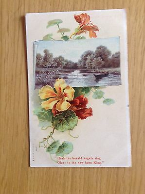 """Christmas Postcard """"Hark The Herald Angels Sing"""" by MISCH & Co. 1906. Good Cond."""