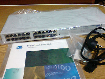 3COM SUPERSTACK II PS HUB 3300 10Mbps 24 PORT 3C16406 BOXED