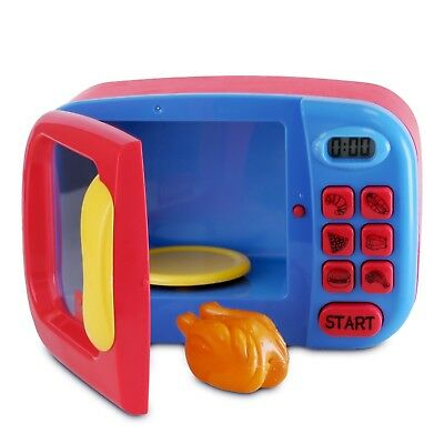 Kidzlane Microwave Oven Toy for Kids - Pretend Play Kitchen Accessories Toy