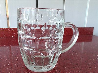 Perfect Condition Vintage Pint Pot Dimple Glass Tankard France