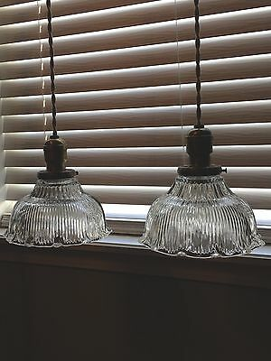 "Wired Pair 39"" Pendant Lights Ceramic Canopy Benjamin Hubbell"