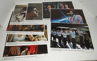 Vintage 1984 Blame it on the Night Complete Set of 8 Lobby Cards Movie