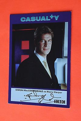 Simon MacCorkindale (Casualty) Signed Cast Card