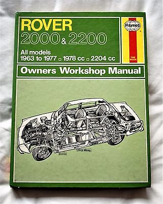 Rover P6 2000 & 2200 Haynes owners workshop manual 1963 to 1977