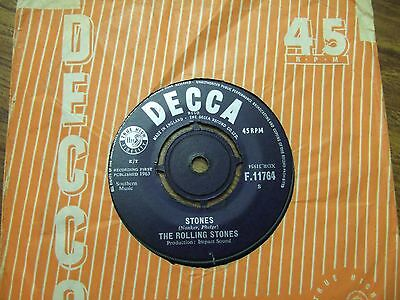 The Rolling Stones - I Wanna Be Your Man / Stones Misspelt-Decca F 11764/1963 Vg