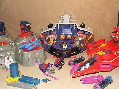 Manta Force Bundle 1980's Space Ship Battle Fortress Red Venom And More 1980's