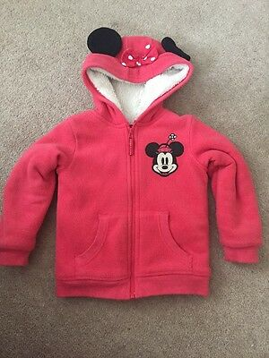 Cute Marks And Spencer Minnie Mouse Warm Lined Girls Coat Jacket 3-4 Years
