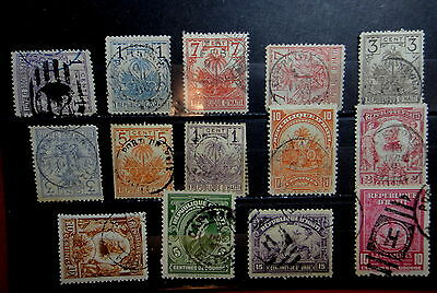 HAITI 1891-1920 Stamps Used Lot - GOOD CANCEL - TOWN and Other  - r31e3319