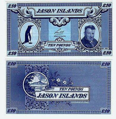 Jason Islands / Falkland Islands - £10 Privately issued Banknote to save Birds.