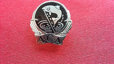 Fishing Enamel Lapel Badge ANGLERS CONSERVATION ASSOCIATION