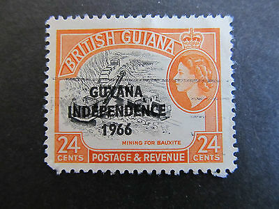 1966/67 - Guyana - Surcharged In Black - Scott 13 A60 24C