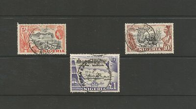 Nigeria 1953 High Value Used Stamps 5/-,10/- & £1 Sg 78-80